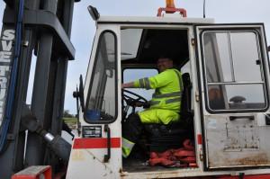 Den glade truckföraren !!!